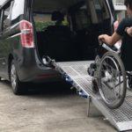 スロープの福祉車両に改造したステップワゴン