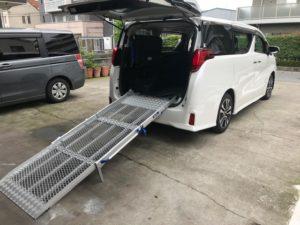 スロープの福祉車両に改造