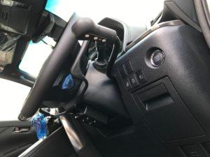 30ヴェルファイア・福祉車両改造・手動運転装置アクセルリング&ブレーキレバー